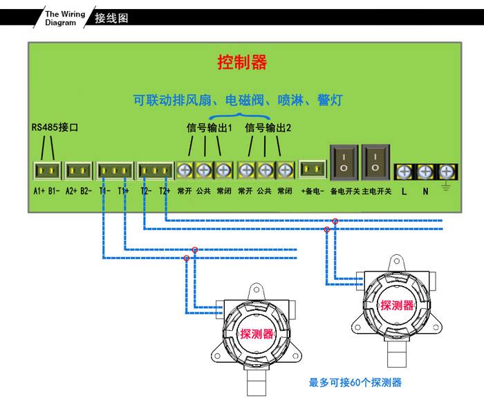 可燃气体报警器接线图
