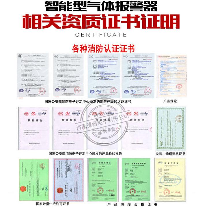 可燃气体报警器3C证书