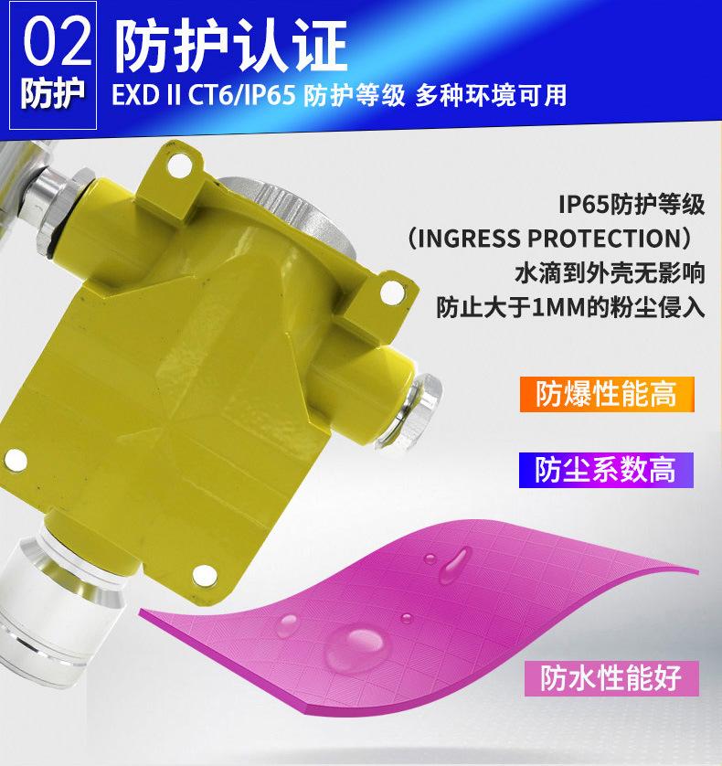 可燃气体报警器防尘防水