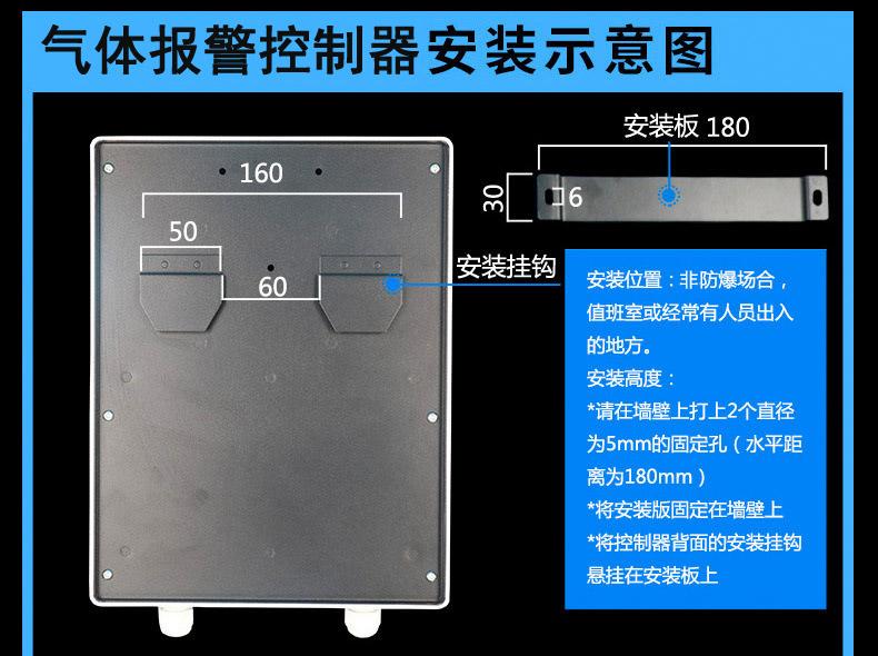 可燃气体报警控制器安装尺寸